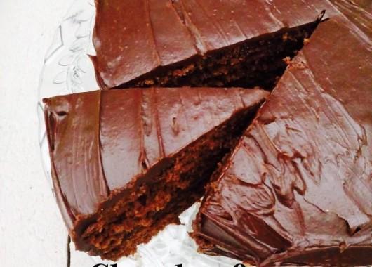 Chocolate and salted caramel cake